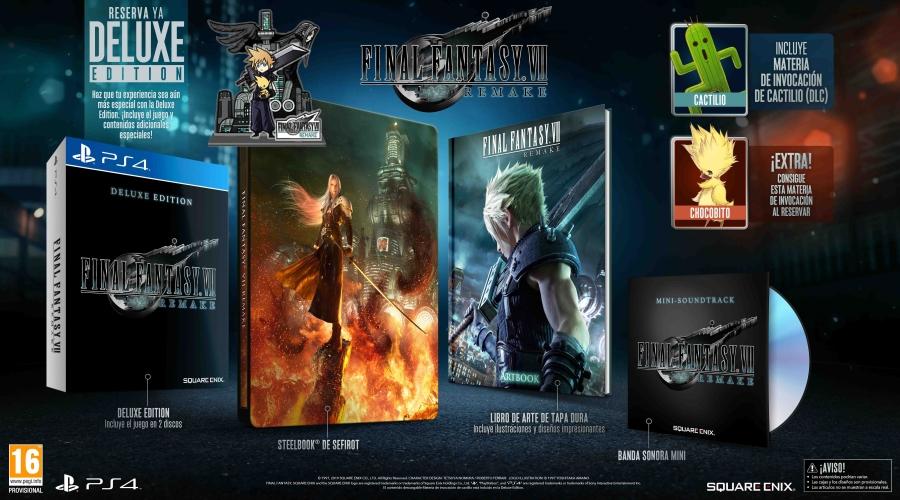 FINAL FANTASY VII REMAKE Edición DELUXE Exclusiva GAME con contenido adicional