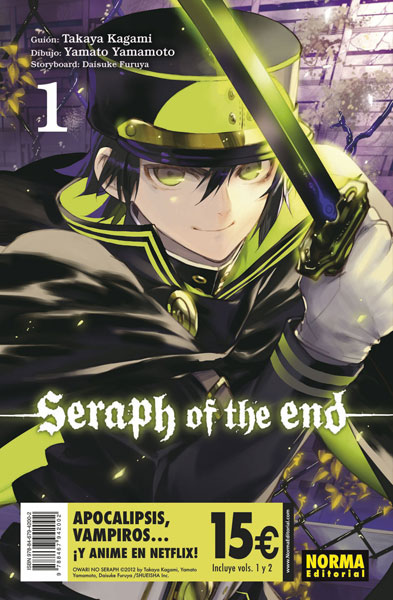 seraph of the end pack iniciación